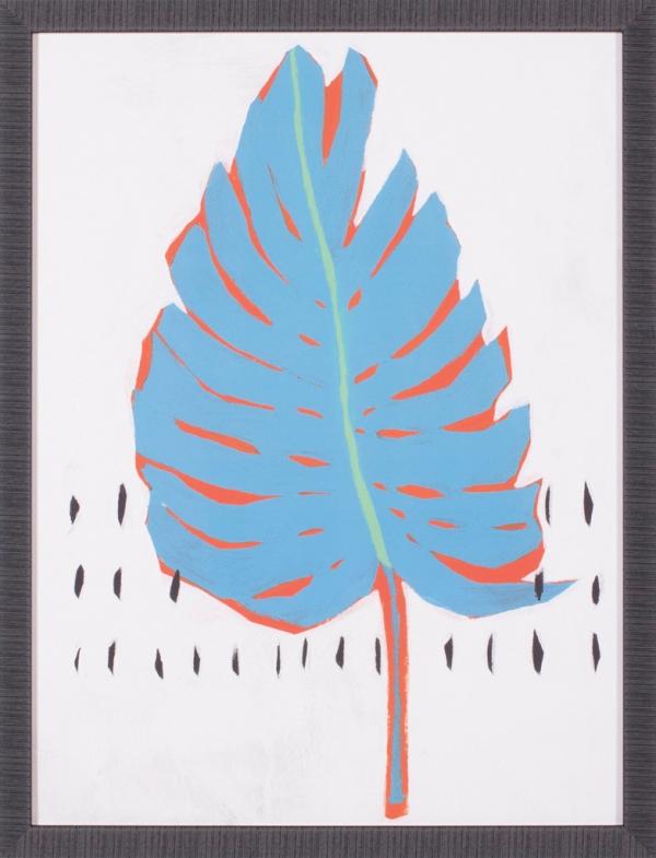 Blue Tropical Leaf I