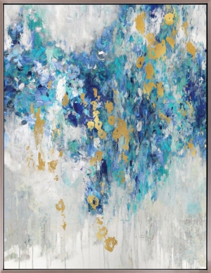Cascading Blues III Framed