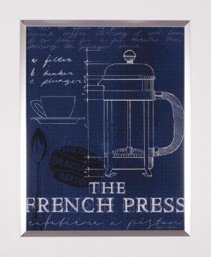 Coffee Blueprint I Indigo