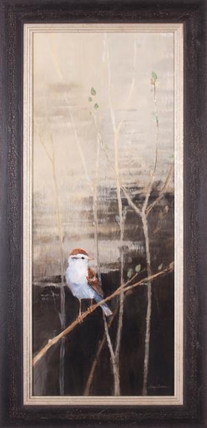 Sparrows at Dusk I