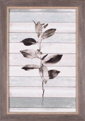 Tonal Leaves On Wood III