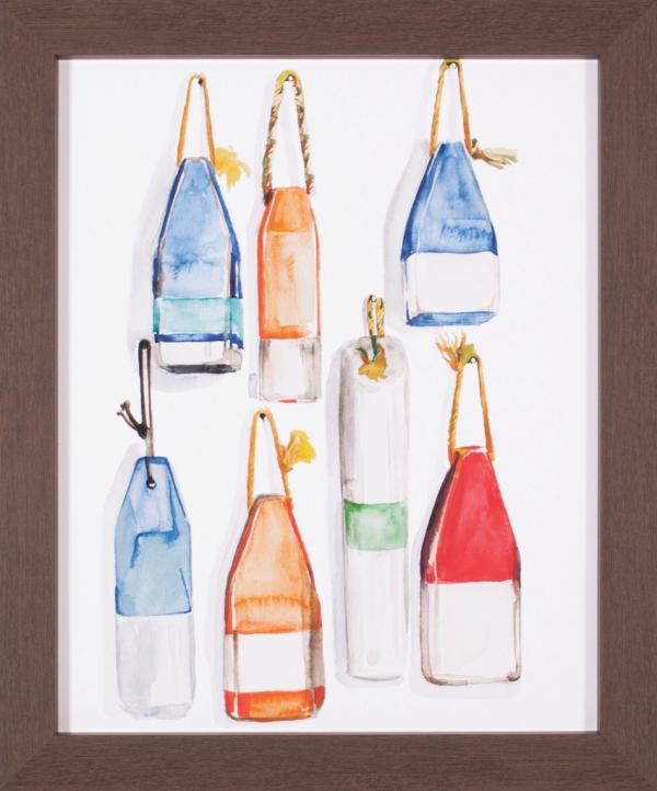 Watercolor Buoys I