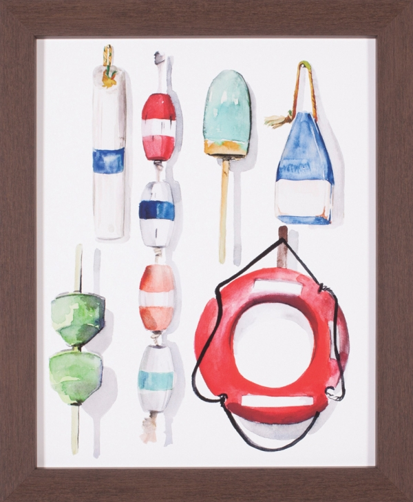 Watercolor Buoys II