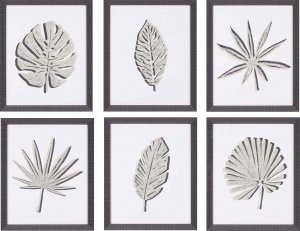Cut Paper Palms I – VI  Six Piece Set